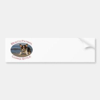 Beach Patrol, Corgi Style Bumper Sticker