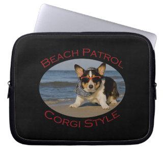 Beach Patrol, Corgi Style Computer Sleeve