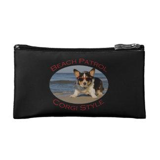 Beach Patrol, Corgi Style Cosmetic Bag