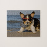 """Beach Patrol Officer Jigsaw Puzzle<br><div class=""""desc"""">Cute corgi on beach patrol... YogiCorgi is dedicated to creating fun and beautiful products for people to enjoy, share, and promote as gifts. We are a Zazzle Elite ProSeller and own the copyright to all the images presented and ALL of our products are made using large high-quality files... so buy...</div>"""