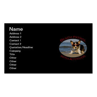 Beach Patrol with Attitude Double-Sided Standard Business Cards (Pack Of 100)