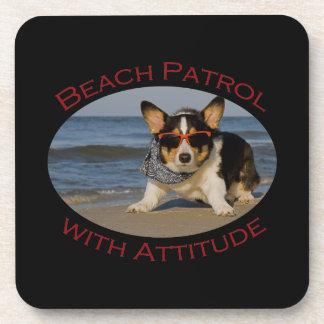 Beach Patrol with Attitude Drink Coaster