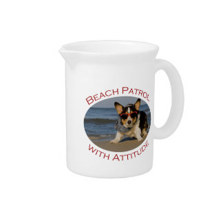 Beach Patrol with Attitude Drink Pitchers