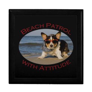 Beach Patrol with Attitude Jewelry Box