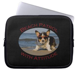 Beach Patrol with Attitude Laptop Sleeve