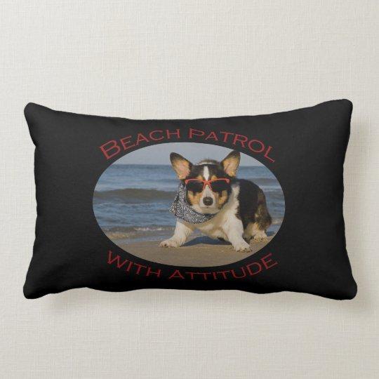 Beach Patrol with Attitude Lumbar Pillow