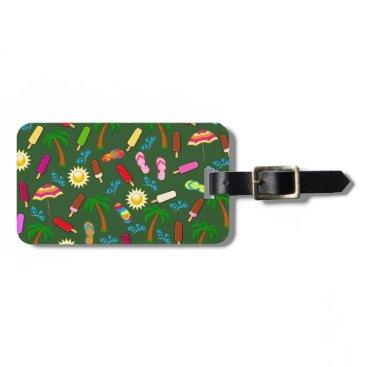 Beach Themed Beach Pattern Bag Tag