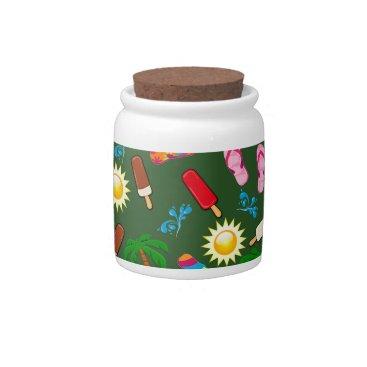 Beach Themed Beach Pattern Candy Jars