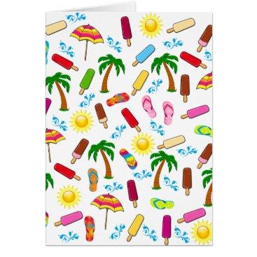 Beach Themed Beach Pattern Card