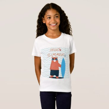 Beach Pattern cute adorable summer funny theme T-Shirt
