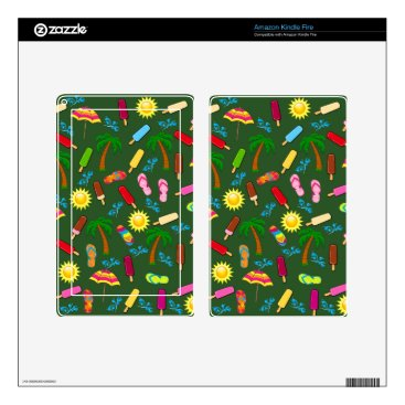 Beach Themed Beach Pattern Decals For Kindle Fire