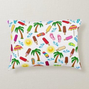 Beach Themed Beach Pattern Decorative Pillow