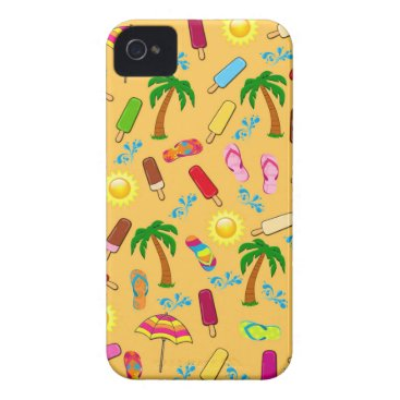 Beach Themed Beach Pattern iPhone 4 Cover