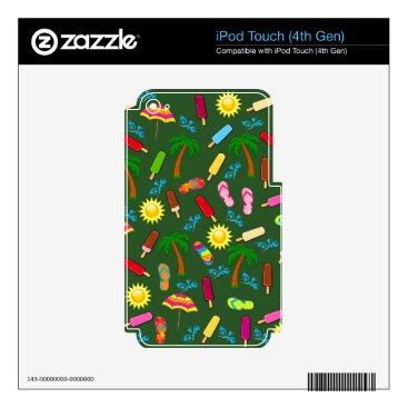 Beach Themed Beach Pattern iPod Touch 4G Decals
