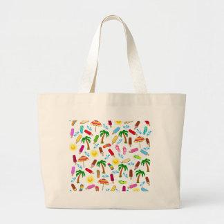Beach Pattern Large Tote Bag