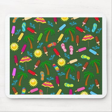 Beach Themed Beach Pattern Mouse Pad
