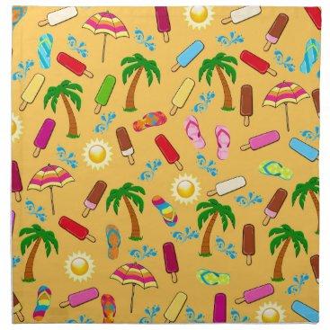 Beach Themed Beach Pattern Napkin