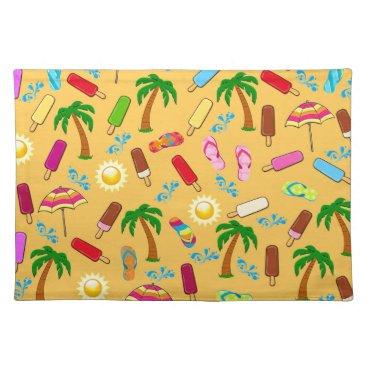 Beach Themed Beach Pattern Placemat