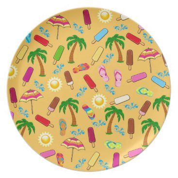 Beach Themed Beach Pattern Plate