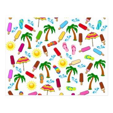 Beach Themed Beach Pattern Postcard