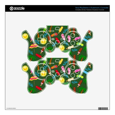 Beach Themed Beach Pattern Skin For PS3 Controller