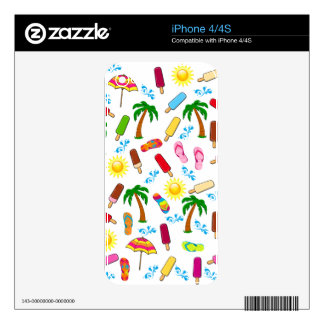 Beach Pattern Skins For iPhone 4