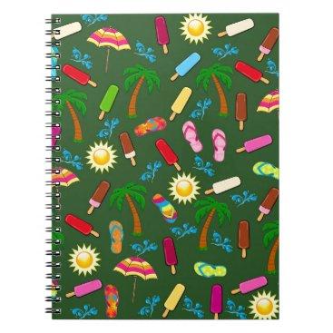 Beach Themed Beach Pattern Spiral Notebook