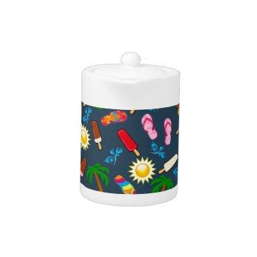 Beach Themed Beach Pattern Teapot