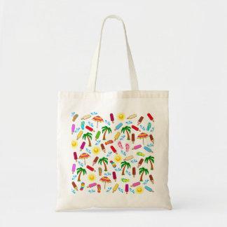 Beach Pattern Tote Bag