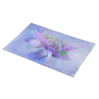 Beach Pea Flowers Cloth Place Mat