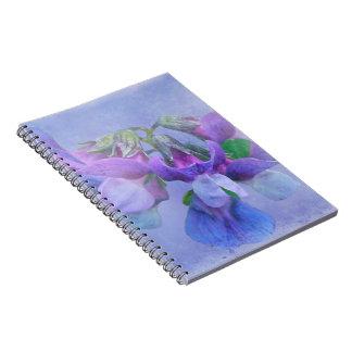 Beach Pea Flowers Spiral Notebook