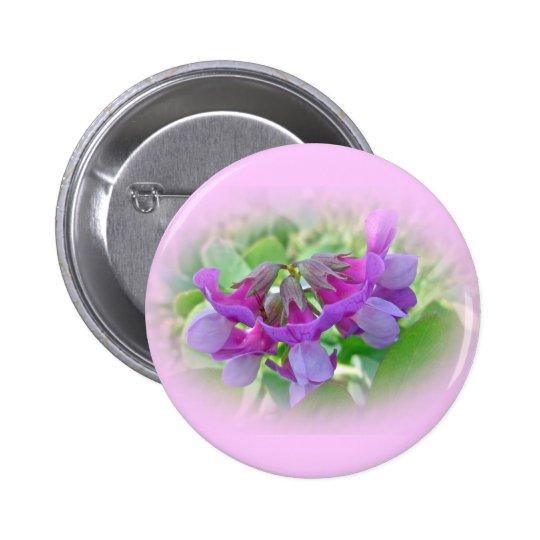 Beach Pea - Lathyrus japonicus - Wildflower Pinback Button