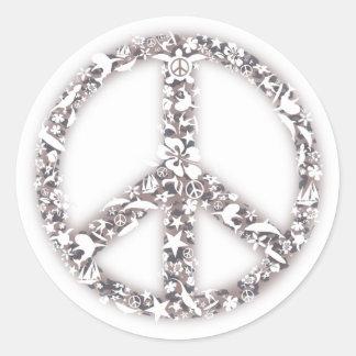 Beach Peace Stickers