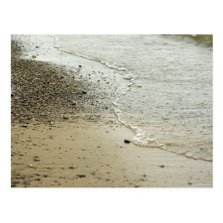 Beach Pebbles Along Shoreline Postcard