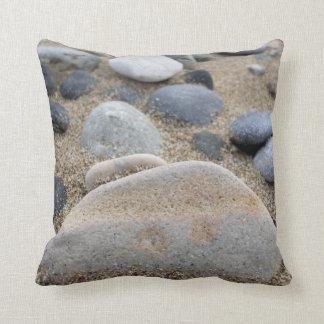 Beach Pebbles Cushion Throw Pillows