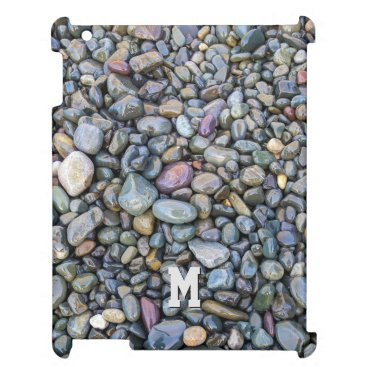 Beach Themed Beach Pebbles custom monogram device cases Case For The iPad 2 3 4