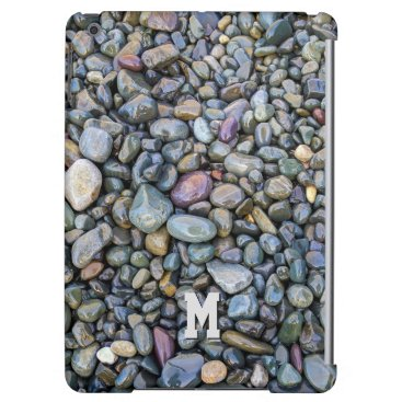 Beach Themed Beach Pebbles custom monogram device cases Cover For iPad Air