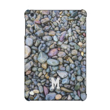 Beach Themed Beach Pebbles custom monogram device cases iPad Mini Retina Cover