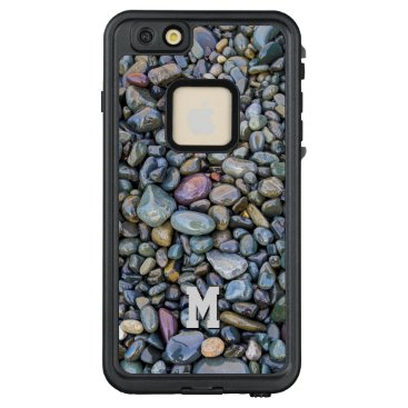 Beach Themed Beach Pebbles custom monogram waterproof cases