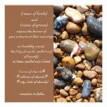 beach pebbles invitation
