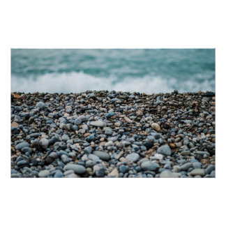 BEACH PEBBLES PHOTOGRAPHY POSTER