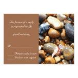 beach pebbles rsvp personalized invitations