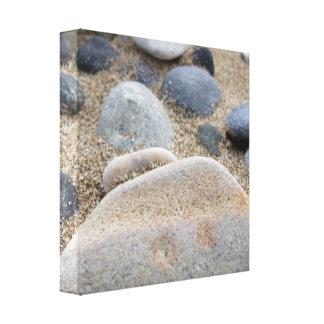 Beach Pebbles Wrapped Canvas Print