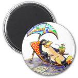 beach penguin fridge magnets