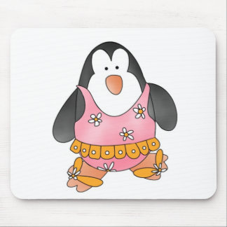 Beach Penguin Mouse Pad