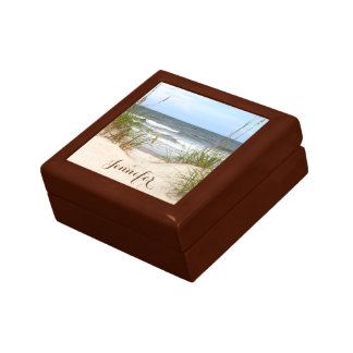 Beach Personalized Jewelry Box