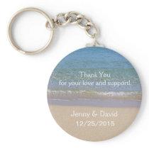 Beach Personalized Key Ring Wedding Favor