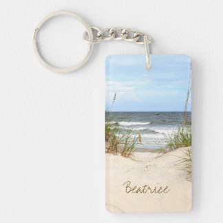 Beach Personalized Keychain
