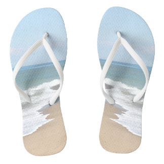 Beach photo flip flops