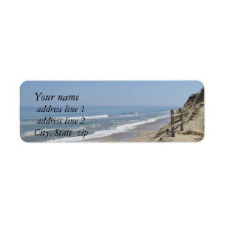 Beach photo label